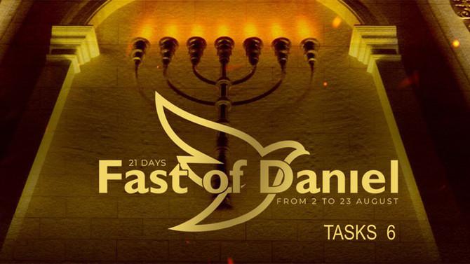 Fast of Daniel sixth day