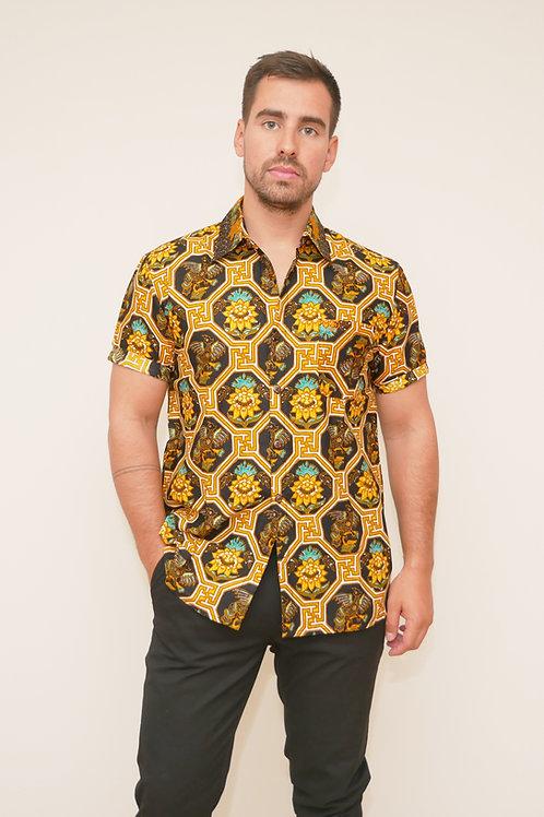Short Sleeve Shirt - Bunga Kuning (unisex)