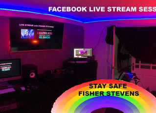 Corona Virus Lockdown Fisher Stevens Live Streams Neil Diamond on Facebook