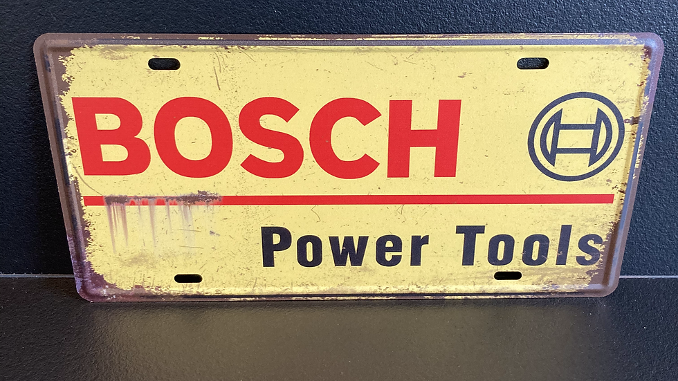 Nummerplaat van Bosch