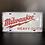 Thumbnail: Nummerplaat van Milwaukee wit