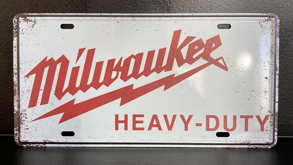 Nummerplaat van Milwaukee wit