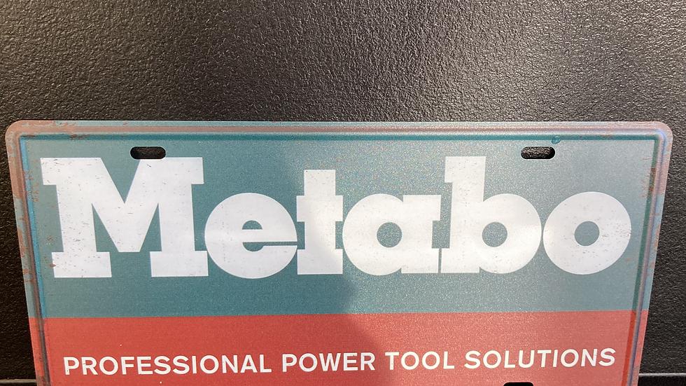 Nummerplaat van Metabo oud