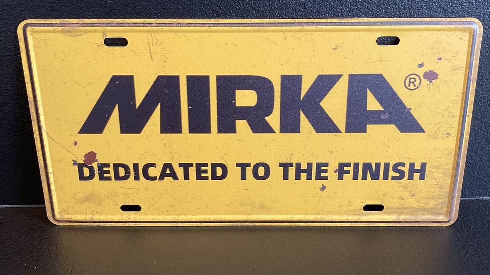 Nummerplaat van Mirka
