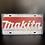 Thumbnail: Nummerplaat van Makita wit
