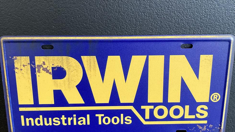Nummerplaat van Irwin