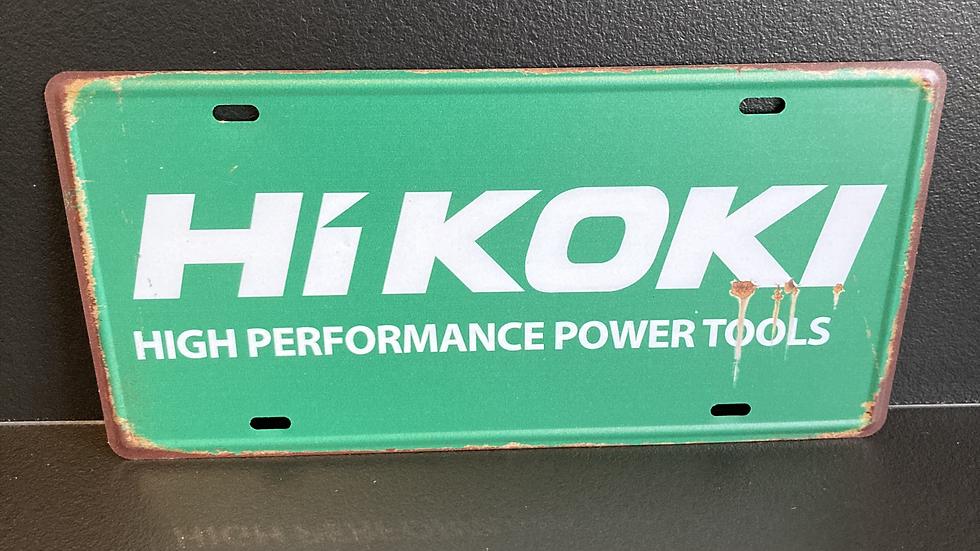 Nummerplaat van Hikoki