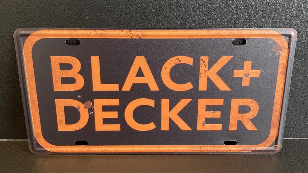 Nummerplaat van Black&decker