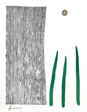 Rain and Blades of Grass, Sumi and gansa