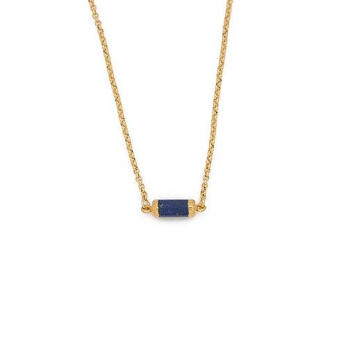 Gemstone Choker, Lapis Lazuli - Gold