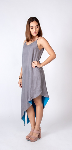 Perfect Grey/Blue Slip Dress