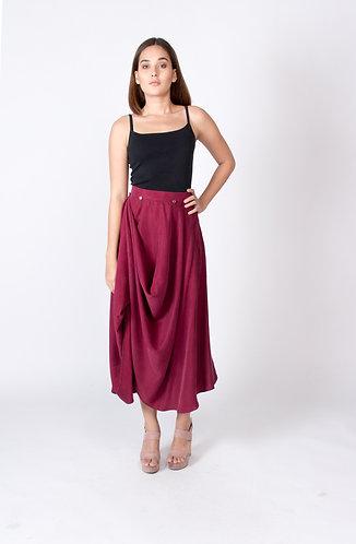 Maroon Sienna Convertible Skirt
