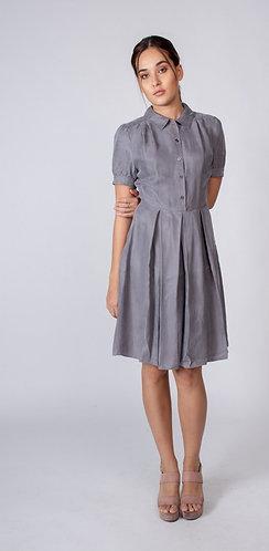 Grey Cassandra Button up Dress
