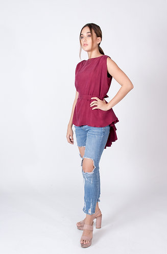 Maroon Caitlin Top and Cape