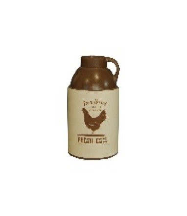 Brown & Tan Farmhouse Ceramic Vase