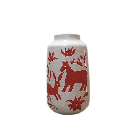 Medium Nature Ceramic Vase (Red)