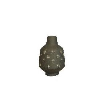Black Ojos Ceramic Vase