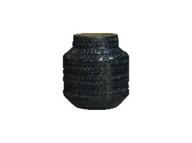 Dark Green Rustic Ceramic Vase