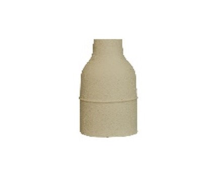 White Egyptian Ceramic Vase