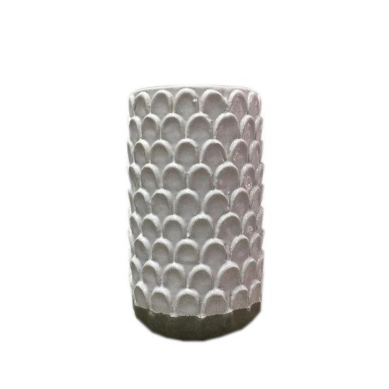 Tall Honeycomb Ceramic Vase