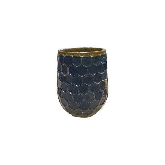 Fish Scale Blue Vase