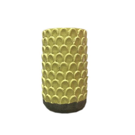 Short Honeycomb Ceramic Vase
