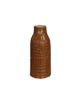 Brown Textured Ceramic Vase