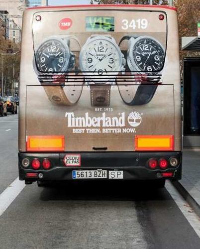 Timberland en autobús