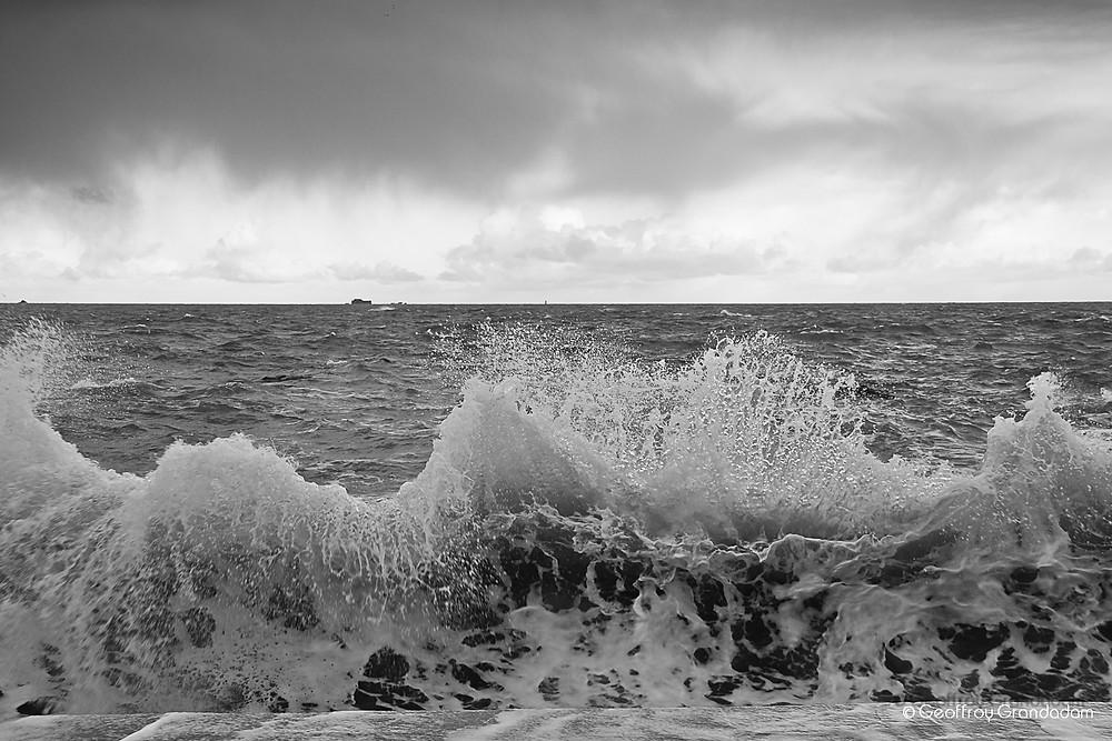 Grande marée à Saint Malo