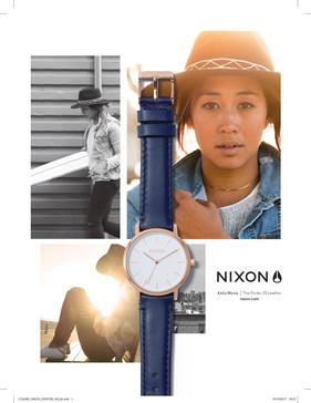 Página de Publicidad de Nixon en Woman Shopping, Diciembre 2017