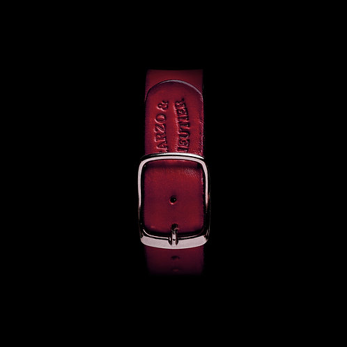 BRACELET NATO CUIR | RED CHERRY 18/21MM