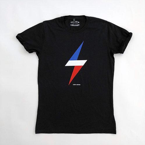 T-Shirt Eclair Tricolore - Noir