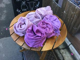 2月のそめたいけん「季節の色を纏う、草木染め体験ー紫根染め」