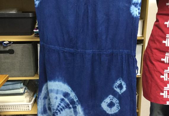藍染めワンピース
