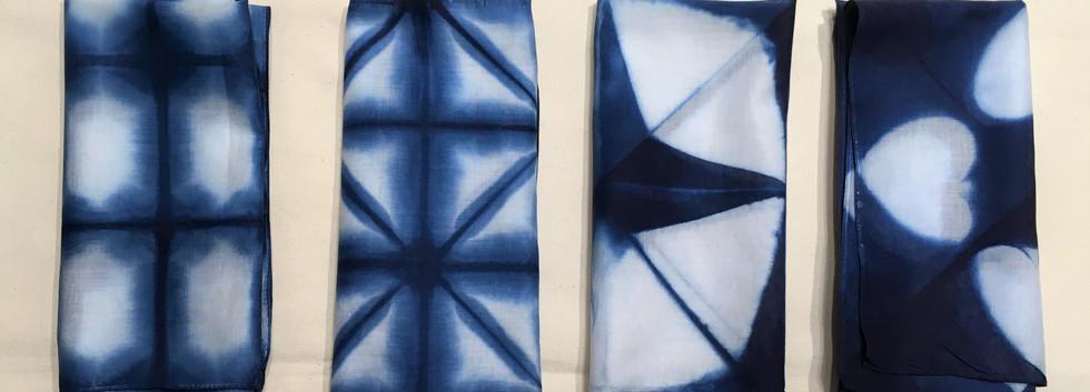 藍染めハンカチ