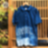 藍染ポロシャツ