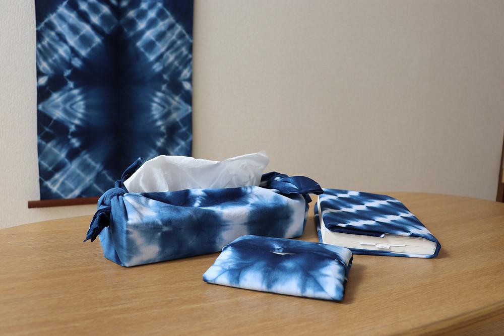 藍染信玄袋