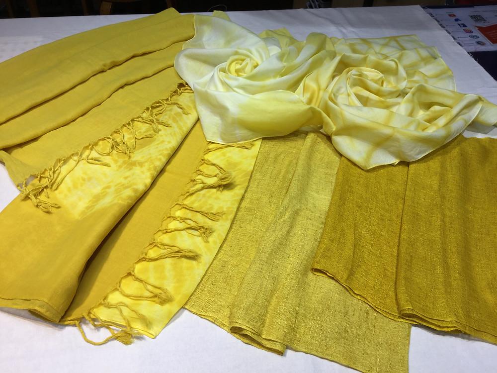 えんじゅ染めストール・スカーフ