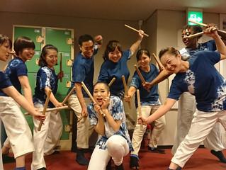 和太鼓の衣装に、オリジナル藍染Tシャツ!