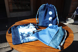 3月のそめたいけん「ずっと欲しかった‼-藍染信玄袋ー」