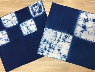 3月の染め体験 絞り染めで藍染ハンカチを作ろう!