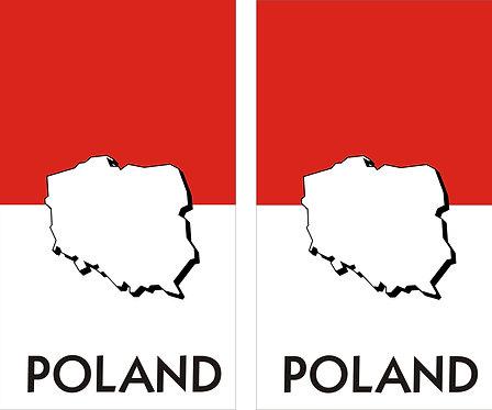 Poland Umriss Faltschild