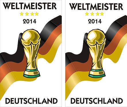 Weltmeister Pokal Flagge