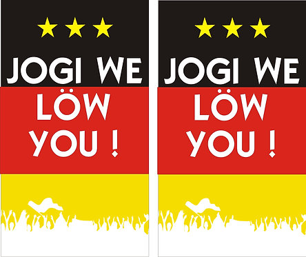 Jogi we löw you Faltschild