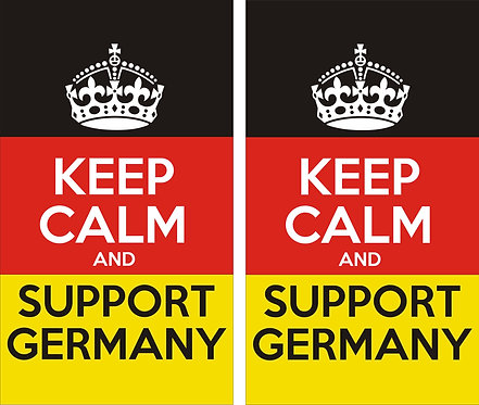 Keep calm and support germany classic