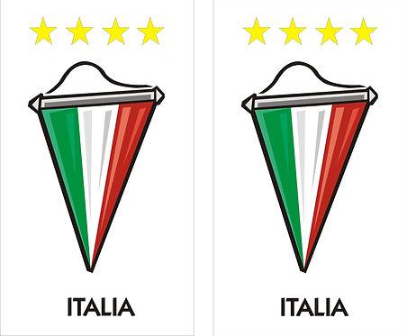 Italia Wimpel Faltschild