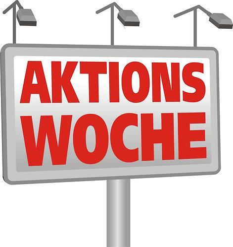 "Aufkleber ""Aktionswoche"""
