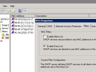 DHCP MAC Address Filtering on Sophos SG (UTM 9)