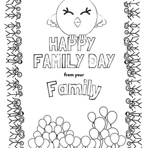 CQ Family Day Colouring Page