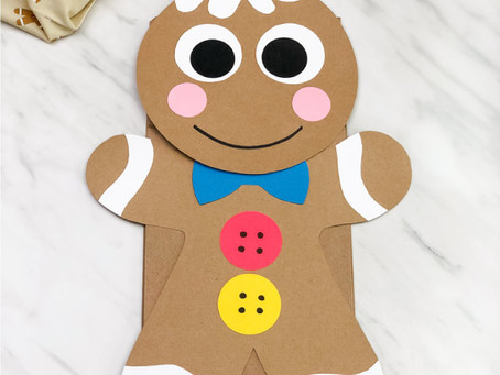 Gingerbread Person Paper Bag Puppet